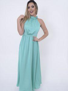 vestido longo turquesa para madrinhas de casamento