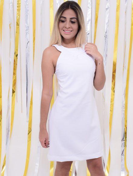 vestido branco simples