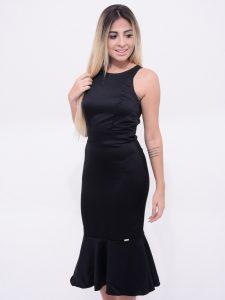 vestido preto mid