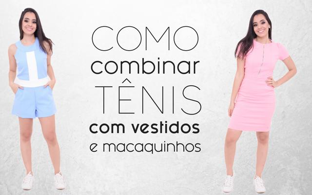 Como combinar tênis com vestido