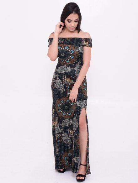 vestido longo com fendas