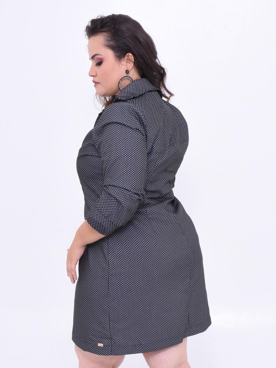 vestido de manguinhas plus size