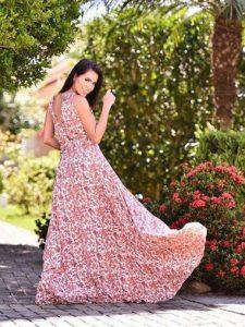 Vestido estampado Adriana Santana