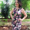 Vestido bengaline com estampas