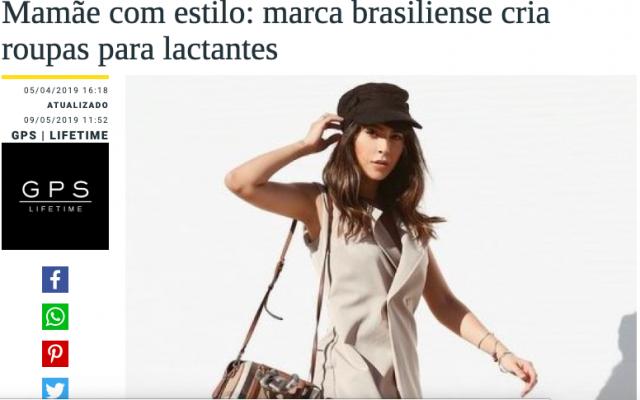 Revista GPS destaca linha de roupas para mães que estão amamentando