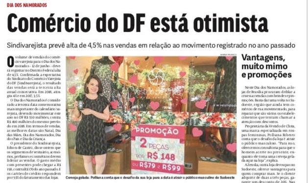 Ação do Dia dos Namorados é destaque em matéria no JBR