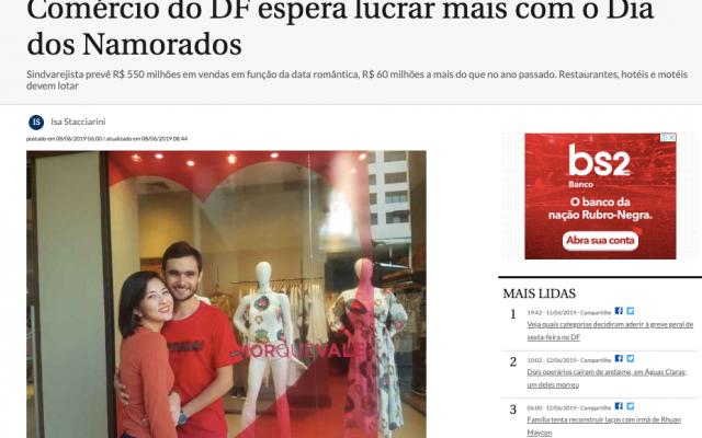 Correio Braziliense ressalta consultoria oferecida pela Vestido de Chita