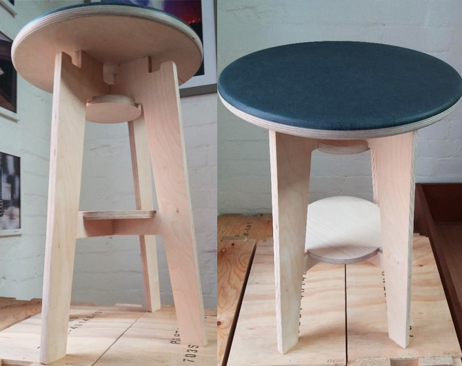 Aaran's Slot Together Stool