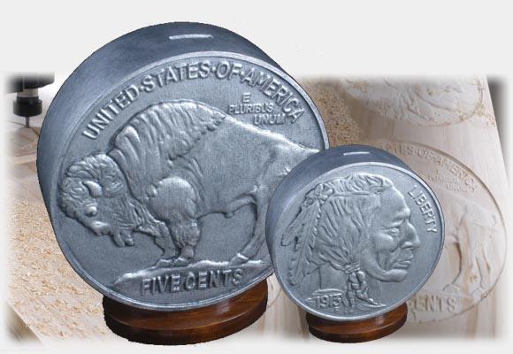 Buffalo Nickel Coin Bank