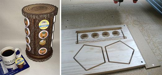 Faux Wood Slab K-Cup Holder