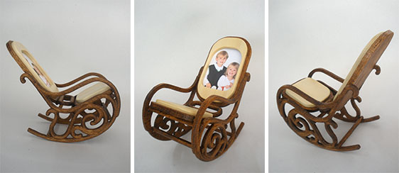 Miniature Bentwood Rocker Photo Frame