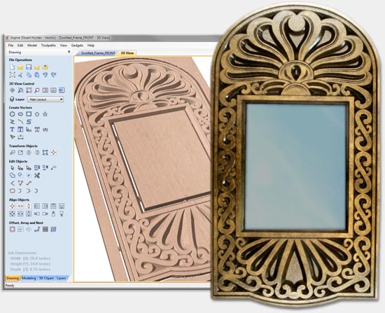 Scrolled Mirror Frame