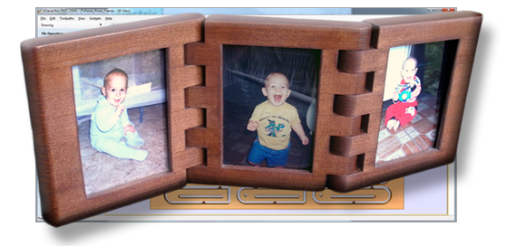 Wooden Hinged Photo Frames