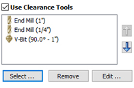 Optimizing Clearance Tools in VCarving
