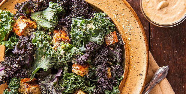 Superfood Kale Ceasar Salad