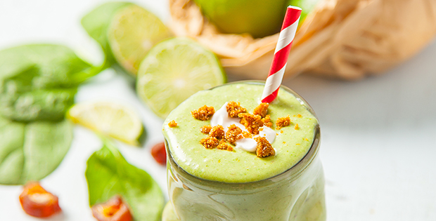 key lime pie smoothie with coconut cream