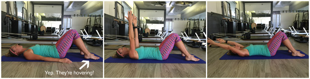 woman doing arm extensions