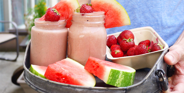 watermelon-strawberry-smoothie