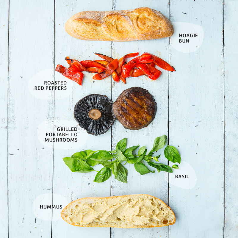 Mediterranean veggie burger ingredients