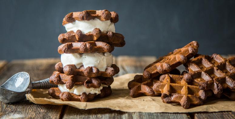 Waffle Ice Cream Sandwich