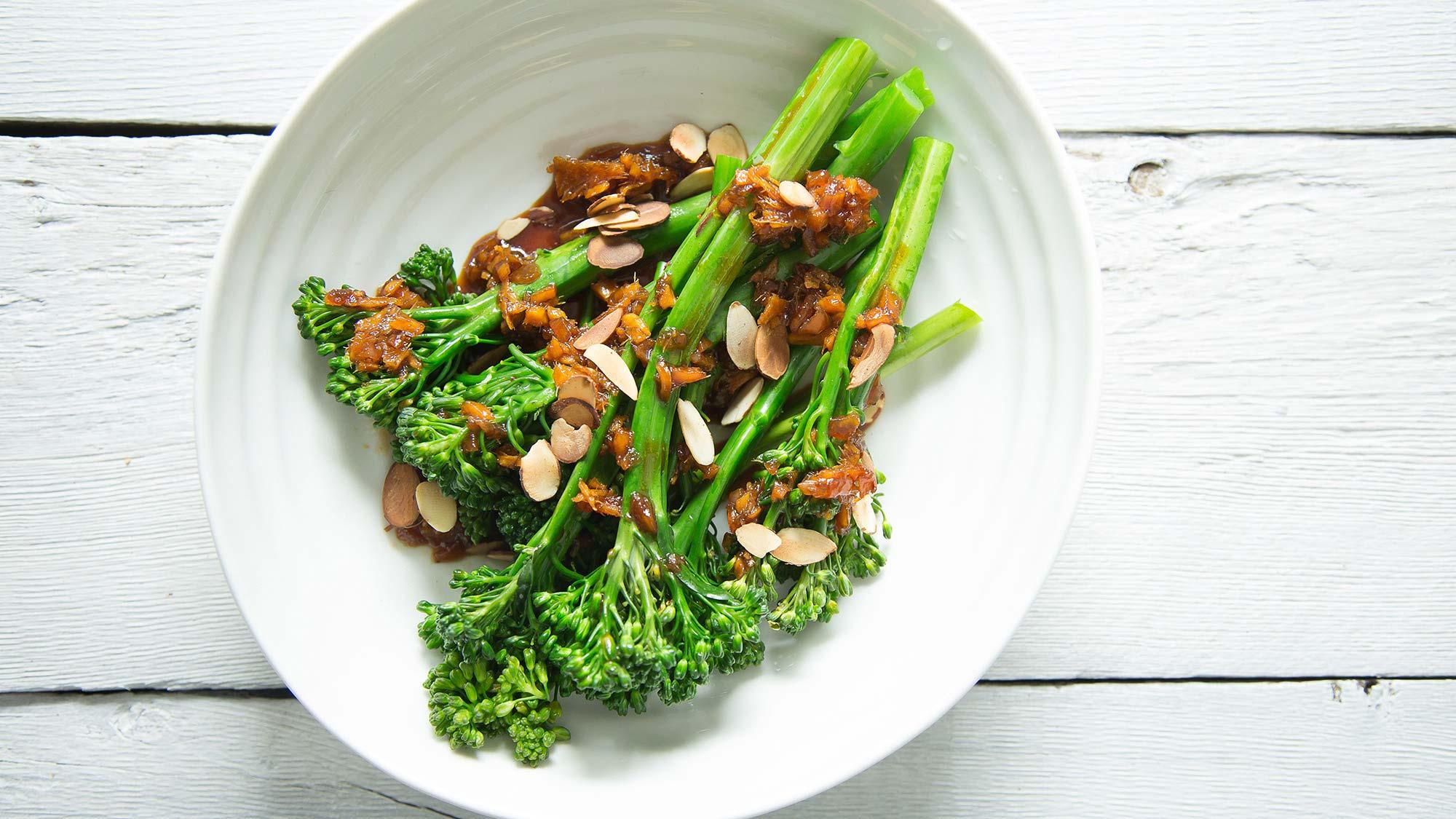 maple ginger broccolini