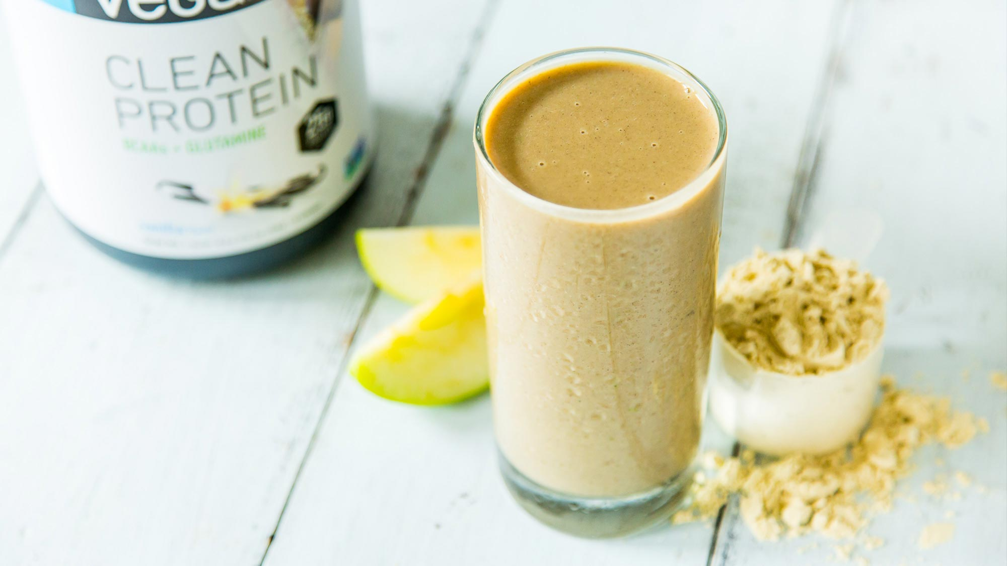 apple banana protein shake with Vega® Clean Protein