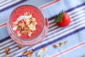 Strawberry Coconut Smoothie - Eat Spin Run Repeat4