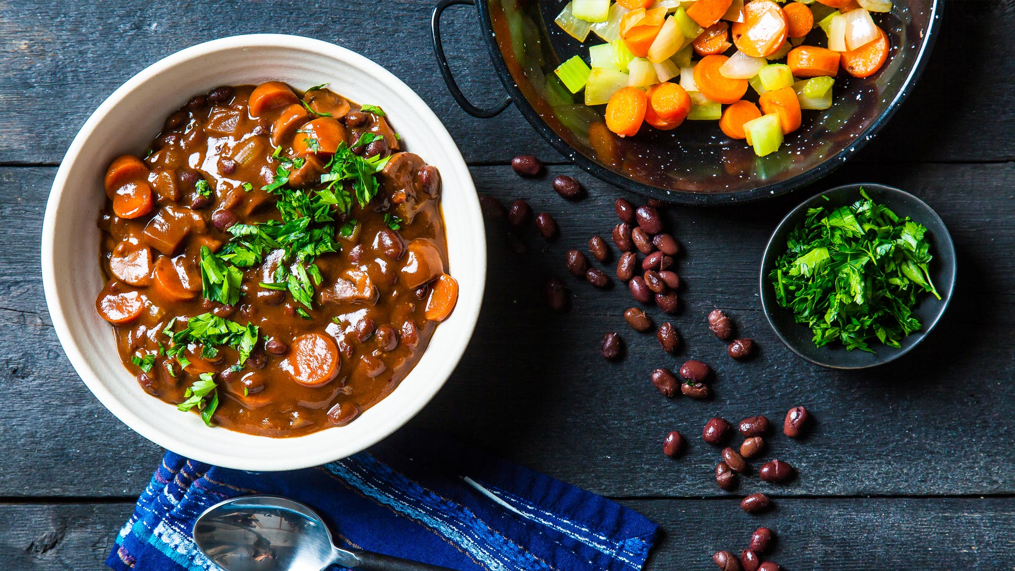 black bean bourguigon
