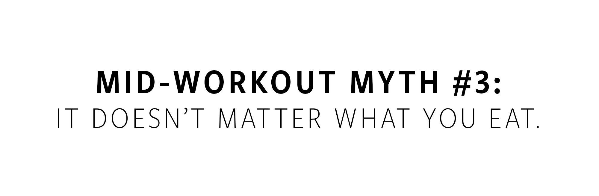 workout myths