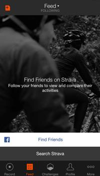Strava homepage app screenshot
