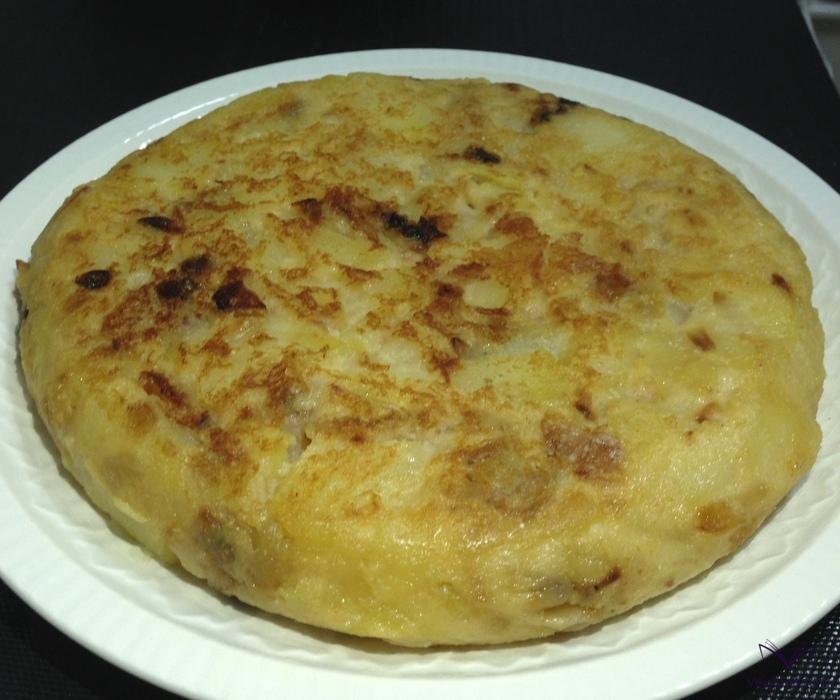 Potato omelette ready!
