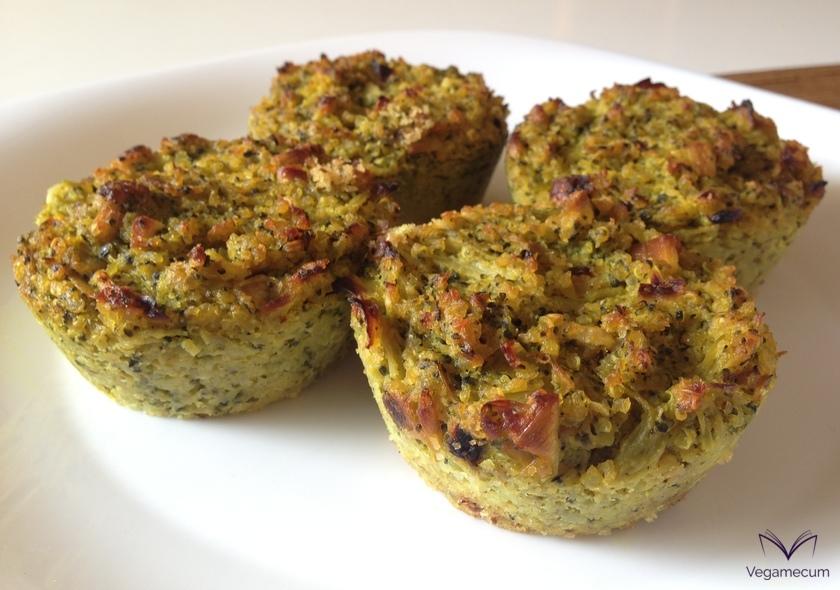 Muffins salados de brócoli con quinoa