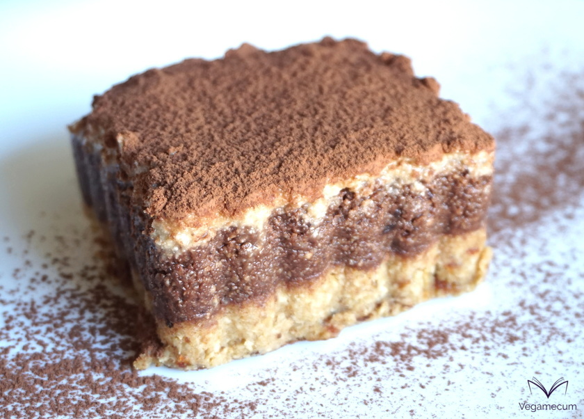 Raw vegan chestnut and chocolate tiramisu
