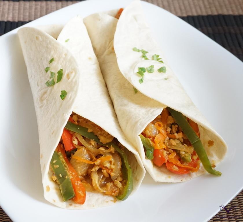 Fajitas mexicanas veganas terminadas