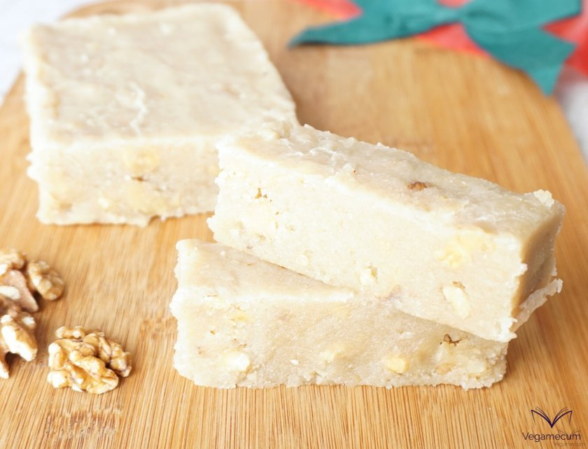 Vegan cream and walnut nougat