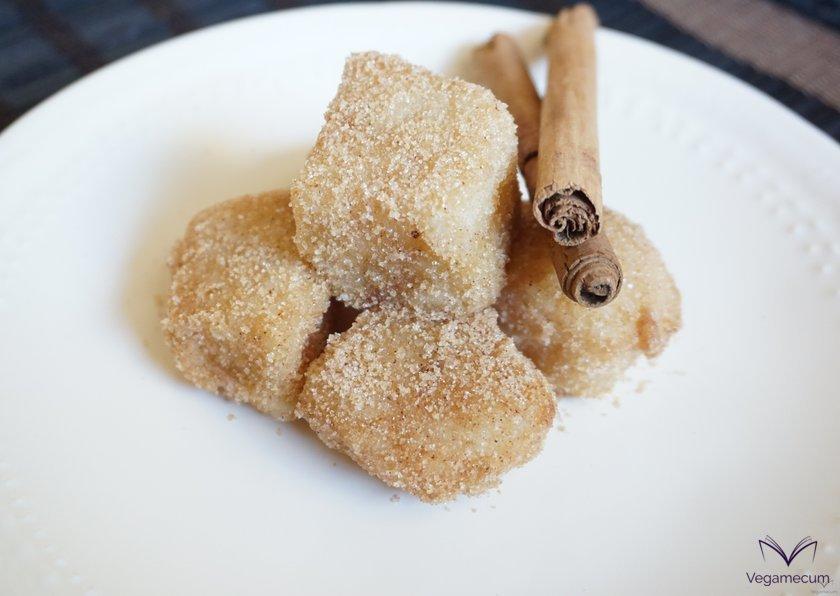 Finished vegan fried milk