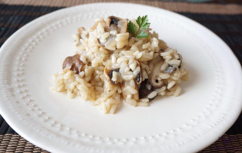 Vegan risotto ai funghi ready