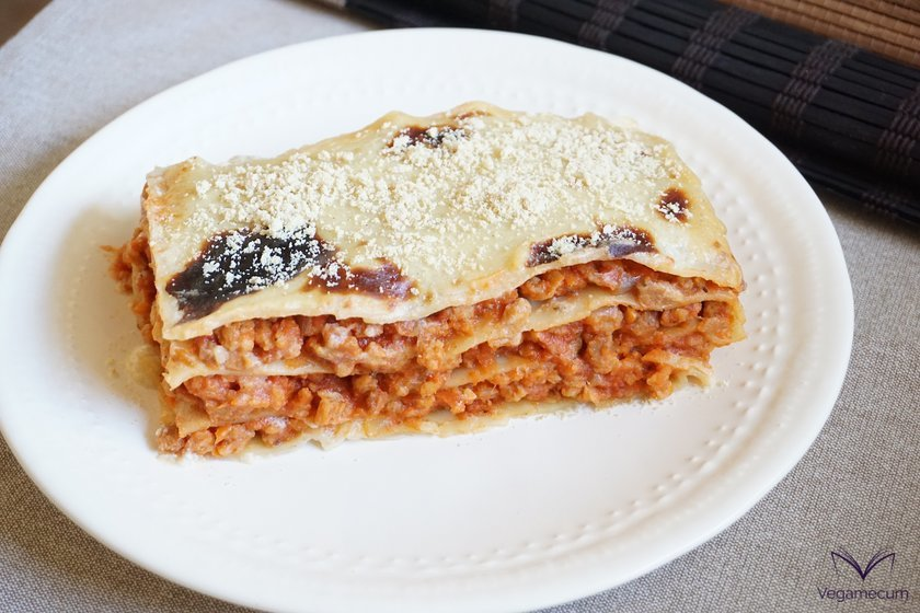 Vegan Bolognese Lasagna