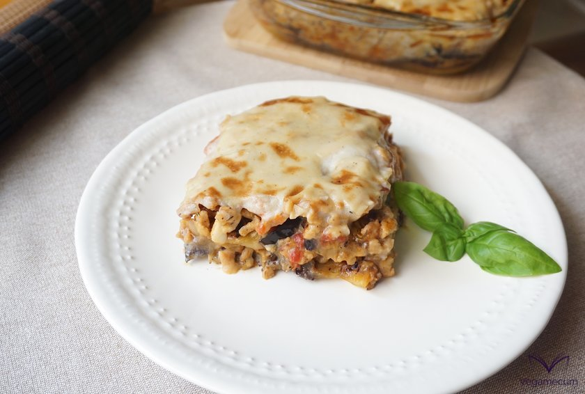 Vegan classical Greek moussaka