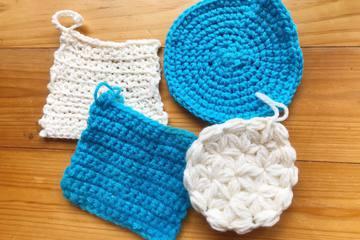 かぎ編み初心者はこれ!すぐできるアクリルたわしで洗い物を楽しくエコに