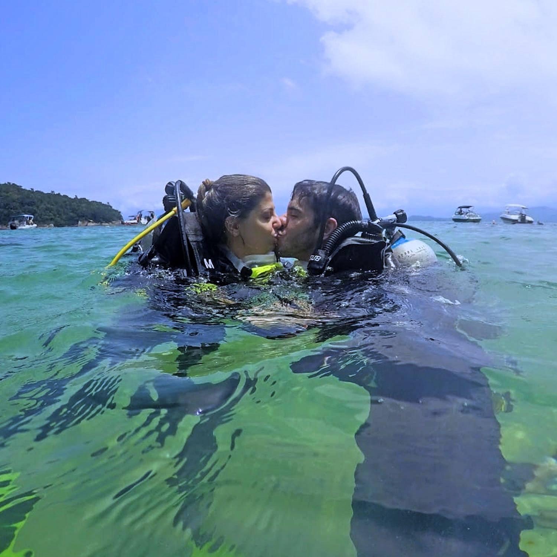 Mergulho para 2 pessoas (Agende sua data) Ilha das Couves, Ubatuba-SP