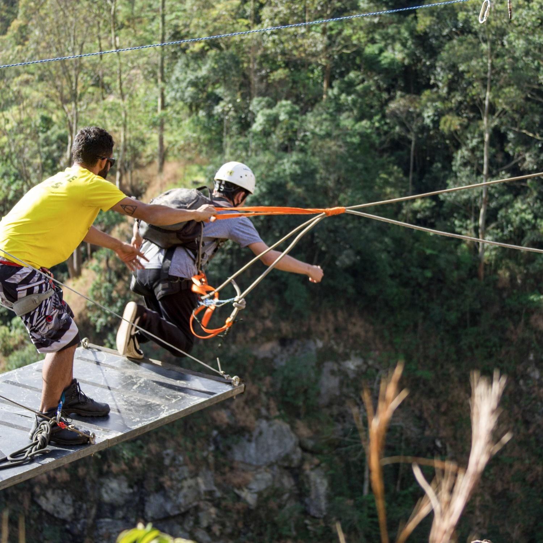 Rope Jump de 70 metros no DIB em Mairiporã-SP
