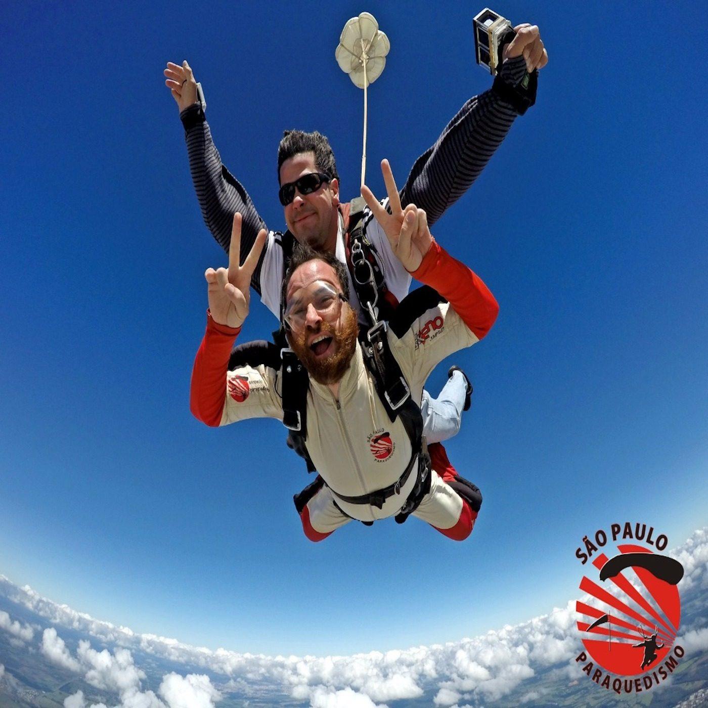 Salto de Paraquedas com Vídeo e Fotos (Handycam) em Boituva-SP