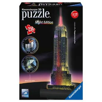 216 Stuks 3D Puzzel Empire State at Night