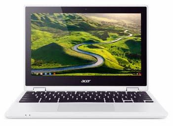 "Acer Chromebook R 11 CB5-132T-C7D2 1.6GHz N3160 11.6"" 1366 x 768Pixels Touchscreen Zwart, Wit"