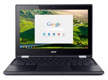 "Acer Chromebook R 11 CB5-132T-C9VF 1.6GHz N3160 11.6"" 1366 x 768Pixels Touchscreen Zwart Chromebook"