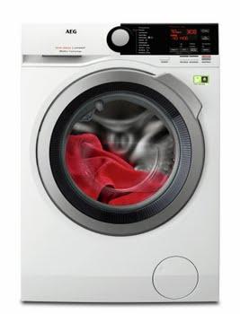 AEG L8FB96ES Vrijstaand Voorbelading 9kg 1600RPM A+++ Roestvrijstaal, Wit wasmachine