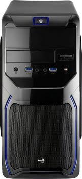 Aerocool QS-183 Advance Mini-Toren Zwart, Blauw computerbehuizing