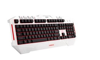 ASUS Cerberus Arctic USB QWERTY Amerikaans Engels Wit toetsenbord