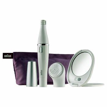 Braun Face 830 Premium-editie gezichtsepilator & gezichtsreinigingsborstel incl. spiegel & toilettasje
